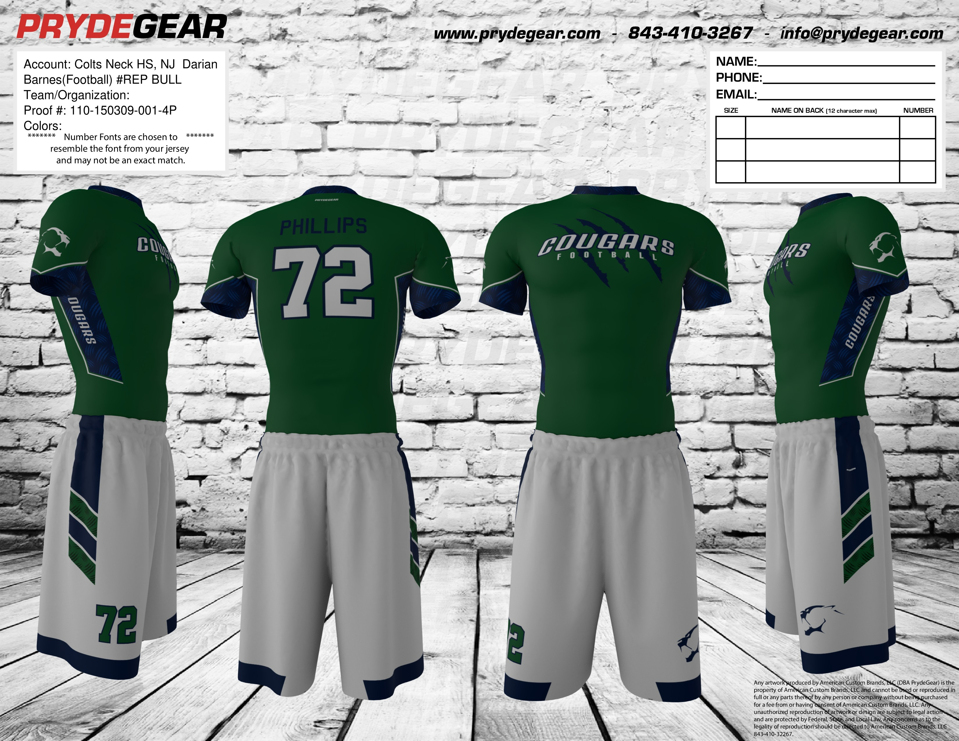 28efaf253 Pryde Gear (7 on 7) – Colts Neck High School Football